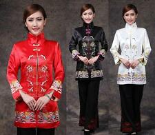 Chinese Traditional Style Women's Lengthen Jacket Coat Outerwear M L XL XXL 3XL