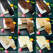 "60pcs 90gr-200gr 8A Human Hair Tape-in Extensions Weft Remy Hair 16-26""/40-66cm"