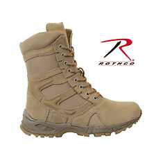 """Rothco Forced Entry Desert Tan 8"""" Deployment Boots with Side Zipper NIB"""