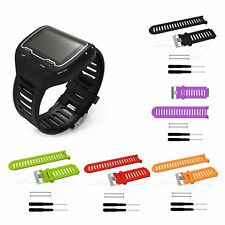 Sports Silicone Band Strap Bracelet+Tools for Garmin Forerunner 910XT GPS Watch