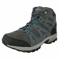 MENS HI TEC ALTO MID SUEDE LEATHER LACE UP WALKING HIKING ANKLE TRAINER BOOTS