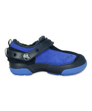 New Kids Boys Crocs Dawson Suede Slip-On Clog Shoes SZ  9 10 11 12 Navy/Varsity