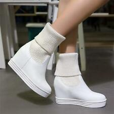 Womens Sneakers Platform Shoes Pull On Oxfords Wedge Ankle Boots Winter Boots YT