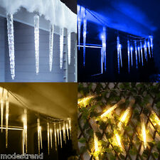 2.1M 112 LED Christmas Light Xmas Decorations Icicle Falling Fairy String Light