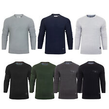 Mens Lightweight Light Knit Jumpers Crew Round Neck Sweater Pullover