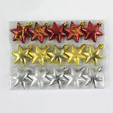 1 Box Christmas Tree Stars Hanging Decorations Baubles Party Wedding Ornament