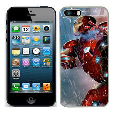 Marvel iron man case fits Iphone 4s 5c SE 5s 6 s 7 cover mobile 11 phone