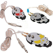 Pro Stainless Steel Skull Tattoo Power Supply Foot Pedal Control 2 Colors U Pick
