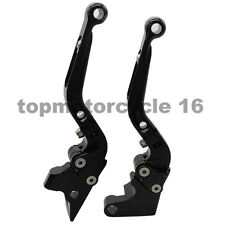 FXCNC For Yamaha FZ1 FAZER FZ6 FAZER CNC Fold& Extend Brake Clutch Levers Black