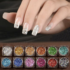 3g DIY  Nail Art Glitter Powder Holographic Laser Sequins Pigment Manicure h6s