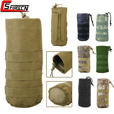 Hiking Molle Kettle Water Bottle Pouch Bag with Mesh Bottom CS Hunting Tactical