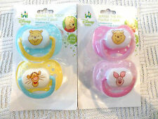 Disney Baby Winnie The Pooh Pacifier 2 in Pack Boy or Girl NIP Limited
