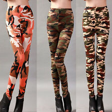 Women Slim Skinny Print Punk Funky Stretch Pencil Tights Pants Trousers Sexy