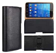 Universal PU Leather Belt Clip Holster Wallet Flip Case Cover For Mobile Phones