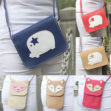Women Purse Leather Handbag Pig Shoulder Crossbody Messenger Phone Hobo Bag Fox