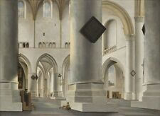 Vitalwalls-The Interior of Grote Kerk at Haarlem-Canvas Art Print.Classical-013.