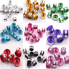 Hot Selling 50Pcs Mixed Colors Aluminium Tube Spacer Beads Jewelry Finding 4x6MM