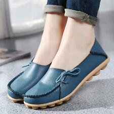 Fashion Women's Leather Shoes Casual  Slip On Flats Loafers Single Shoes Hot