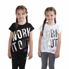 Girls Skechers Graphic T-Shirt Slogan Short Sleeve Tee Crew Neck Top 8-13 Years