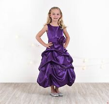 Purple Flower Girl Holiday Dressy Dress Wedding Pageant 2T 4T 5T 6 8 10 12 14 16