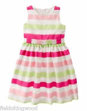 NWT Gymboree Egg Hunt Striped Dress SZ 12 special Occassion Wedding