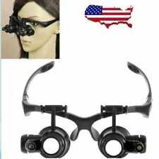 10X 20X LED Eye Jeweler Watch Repair Magnifying Glasses Black Loupe HOT FY