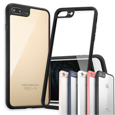 New THINNEST Clear Crystal Case+ Silicone Bumper Pattern Cover iPhone 7 & 7 Plus