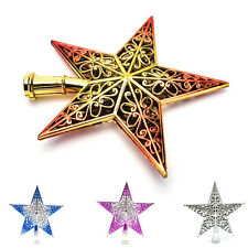 Christmas Tree Star Topper Ornament Party Decoration Xmas Decorations Star FG