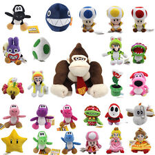 15cm-25cm Plush Super Mario Bros Dolls Stuffed Mario Birdo Yoshi Soft Kids Toys