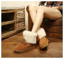 Womens Snow Boots Fully Fur Lined Waterproof Winter Snow Boots