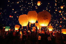 5pc/10pcs Chinese Wishing Lamp Flying Floating Paper Lanterns Lamps Sky Lanterns