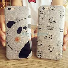 For Apple iPhone 6 6S 6Plus Cute Bling Glitter Chinese Panda TPU Soft Case Cover