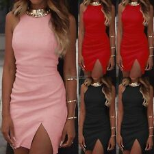 Summer Sexy Lady Sleeveless Bodycon Party Evening Short Mini Slim Dress OK