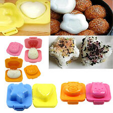 2pc Boiled Egg Rice Sushi Mold Bento Cutter Decorating Mould Mold Maker Sandwich