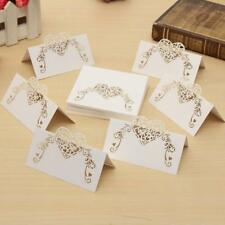 50pcs Wedding Name Placecards Kraft Rustic Escort Place Cards Table Guest