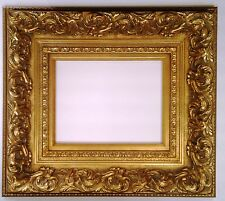 """Gold Ornate Wood Picture Frame 7"""" Wide"""