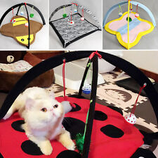 Pop Pet Cat Activity Playing Foldable Tent Toy Bed Pad Dog Mat House Bells