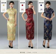 Hot Gorgeous Chinese Women's Silk Evening Dragon Dress Cheong-sam S-6XL