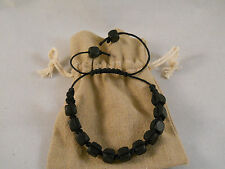 NEW! Hemp Bracelet Ankle Bracelet Macrame With Square Wood Beads Handmade #110