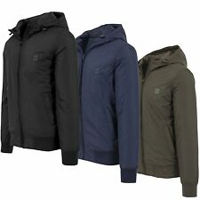 URBAN CLASSICS PADDED WINDBREAKER JACKET TB1458 Men's Winter JACKET Hood Nylon