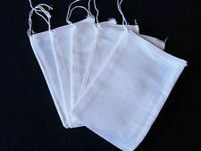 "Reusable Natural Cotton Muslin Drawstring Bags (4"" x 6"")"