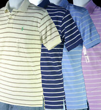 Small / Medium NWT Polo Ralph Lauren Mens Stripe Mesh Polo Shirt  4 colors