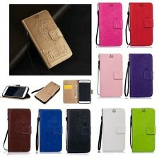 Magnetic Wallet  Embossing PU Leather Card Flip Stand Cover LOT TX-YH Case