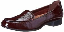 CLARKS women's KEESHA LUCHA Slip-On LOAFER SHOES BURGUNDY Patent Leather sz 7