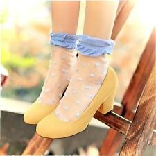 Office Womens Classic Work pomied toe Block Heel Pumps Lady faux suede Shoes New