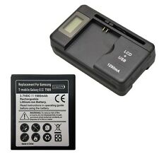 New 1980mAh Battery + Dock Charger For Samsung Galaxy SII S2 i727 T989 L700 i547