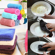 10/20Pcs Bamboo Fiber Dish Wash Cloth Cleaning Towel for Kitchen Assted Colors
