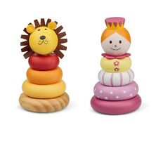 Traditional WOODEN STACKER Stacking Ring Toy Baby Christmas Gift Stocking Filler