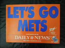 10 VINTAGE - LETS GO METS - NEW YORK DAILY NEWS - BILL GALLO PANELS HUGE 17 X 12