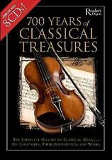 700 Years of Classical Treasures:8 CDs,History of Classical Music,Boxed set,book